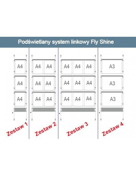 Gotowe zestawy systemów Fly Shine