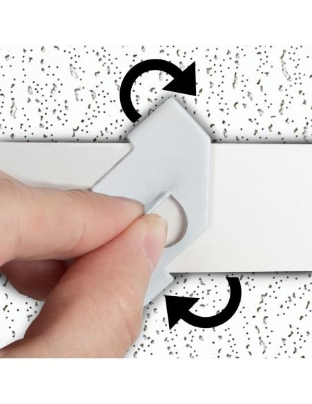 Zawieszka obrotowa na profil sufitowy - sposób montażu